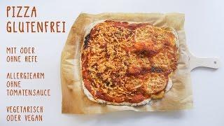 Pizza glutenfrei mit Hefe oder hefefrei - ohne Tomatensauce - histaminarm