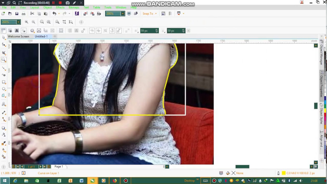 Cara crop foto dengan Corel Draw X7 - YouTube