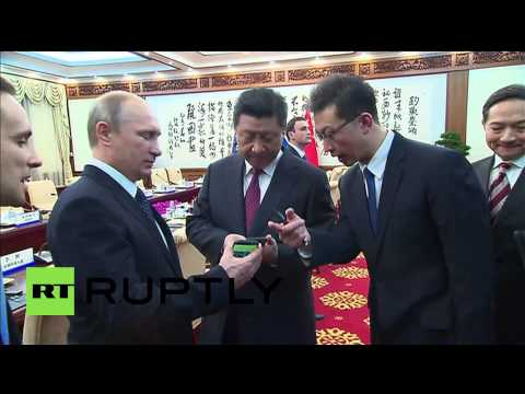 China: Putin gifts Xi Jinping world's FIRST dual-screen smartphone