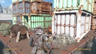 Fallout 4 helmeted cage armor, shishkebab sword, mystery man perk, short gameplay