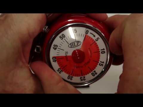 HLP Controls - Kitchen Timer - Round Red Retro Timer