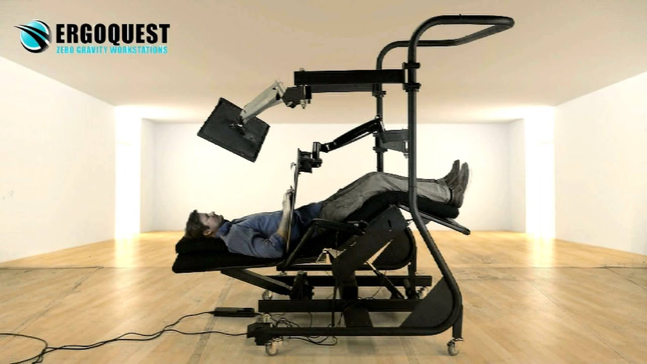 Reclining Workstation by ErgoQuest  YouTube