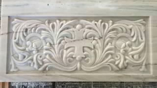 Архитектурные изделия из мрамора(Изготовление сложных архитектурных изделий из мрамора на фабрике мрамора MeGran www.megran.ru. Ванна, резной иконос..., 2016-01-23T19:12:47.000Z)