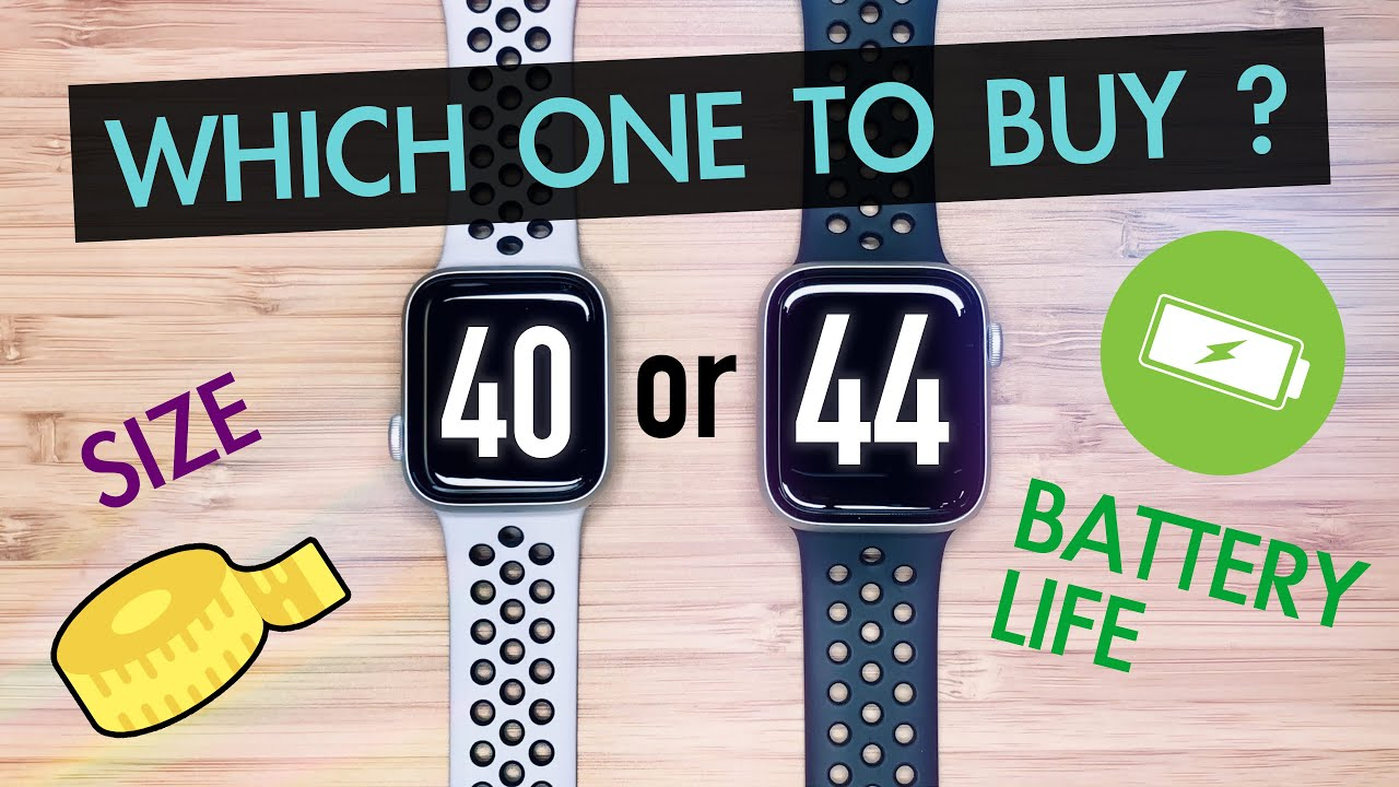 40mm vs 44mm   Which Size ⌚️Apple Watch Series 5 4 to Buy?   4K