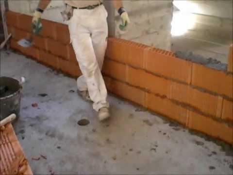 Colocacion perforado gero gran formato cerabrick youtube - Ladrillo ceramico perforado ...