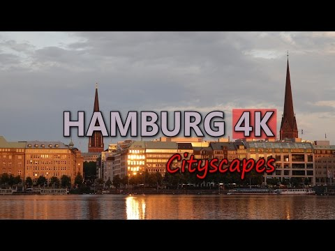 Ultra HD 4K Hamburg Germany Cityscapes Landmarks Travel Sightseeing Tourism UHD Video Stock Footage
