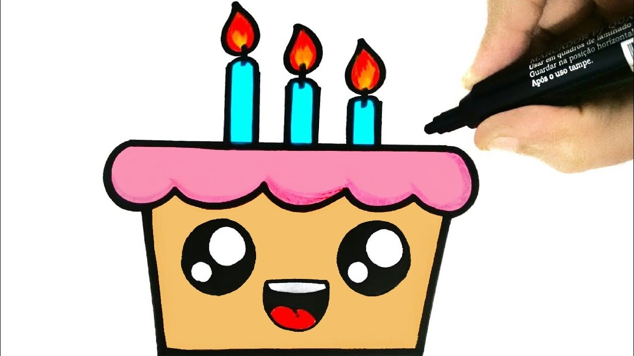 Cake Easy Draw To Birthday