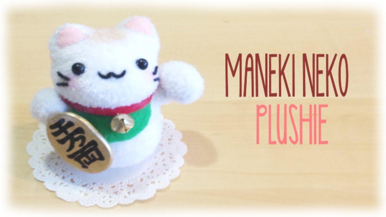 How Make Make Lucky Cat Plushie Maneki Neko Easy Sock Sewing
