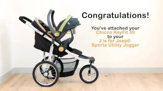 How to Attach Car Seat to J is for Jeep Sports Utility Jogging Stroller