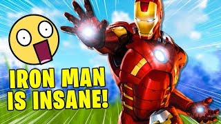 IRON MAN IS OP! *NEW* Fortnite Avengers End Game (INSANE)
