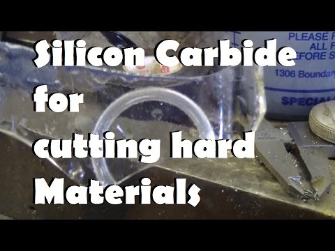 Using Silicon Carbide to cut glass