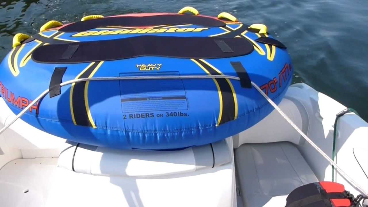 How to rig a tube for transport on a boat youtube for Best way to store an outboard motor