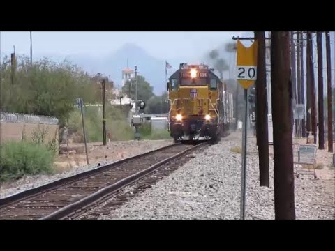 Union Pacific Railroad Magma local in Mesa AZ with lots of scanner traffic