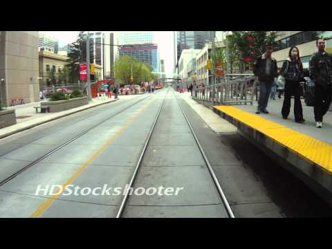 Time-lapse ride on the LRT train through Calgary