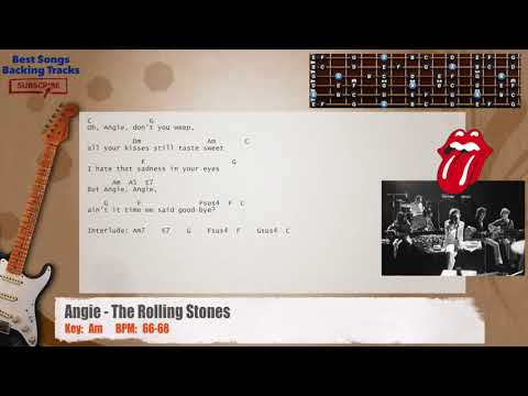 Angie - The Rolling Stones Guitar Backing Track with chords and lyrics