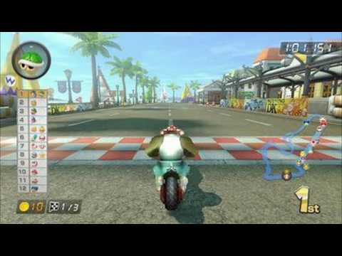 Mario Kart 8 - Funky Kong with Flame Runner