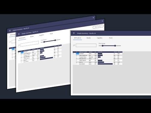 C# - Simple Inventory - Flat Bunifu UI 1.5.3 - (DatagGridView + progressbar trick)  - Winforms .Net