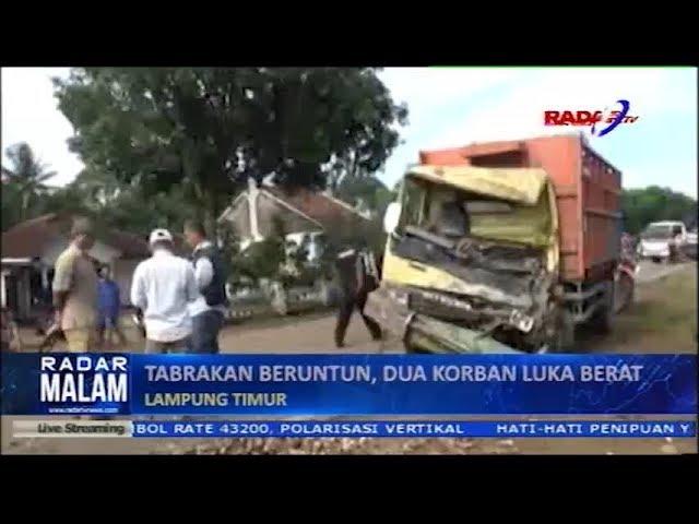 Mobil Muatan Singkong Terguling Timpa Mobil lain 2 Orang Terluka