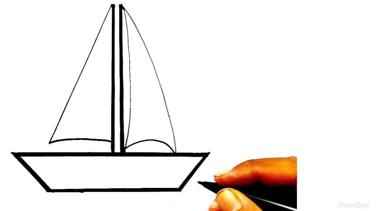 Cara Mudah Menggambar Dan Mewarnai Perahu Layar Tutorial Indonesia Youtube