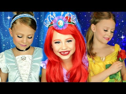 Disney Princess Makeup Compilation! Cinderella, Belle, and Ariel Makeup!
