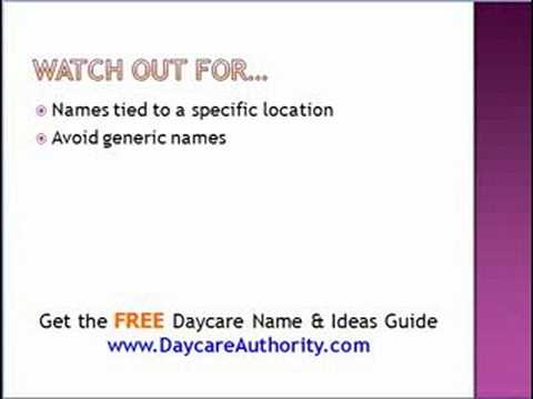 how to choose a daycare name