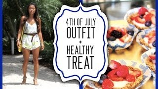 4th Of July Outfit Idea + Healthy Fruit Pizza!