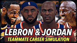 What If LeBron James & Michael Jordan Were On The SAME TEAM? | NBA 2K20 Teammates Career Simulation