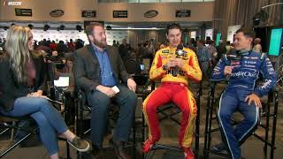 Logano, Larson Discuss Challenges Of Fatherhood
