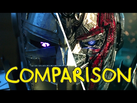 Transformers: The Last Knight - Homemade Side by Side Comparison