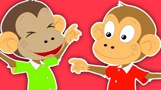 Пять маленьких обезьян | мультфильм для детей | Популярные потешки