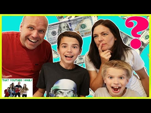$100 Shopping Challenge!  What Will They Buy? / That YouTub3 Family