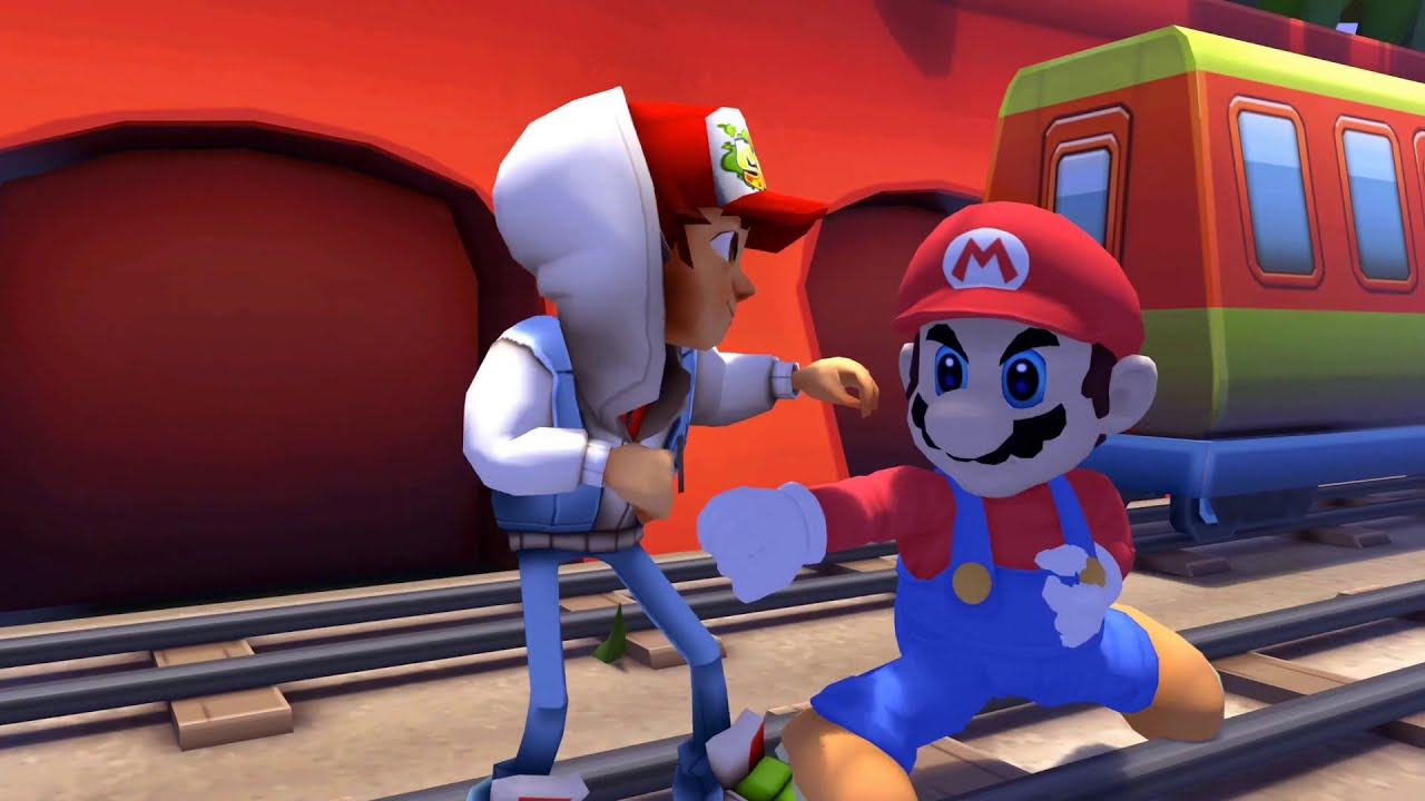 Subway Surfers vs Super Mario