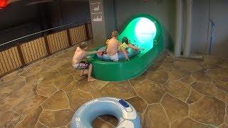 Wanna Go Fast on the Green Water Slide at Aquadome Billund