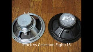 Stock vs Celestion Eight15 Marshall MG15DFX Speaker Comparison