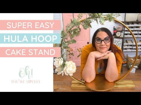 Affordable hoop centerpiece or cake stand