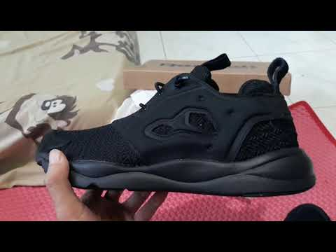 Unboxing Reebok Furylite Triple Black Original BNIB