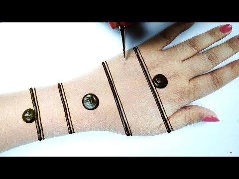 बहुत आसान मेहँदी लगाने का नया तरीका  - Attractive Mehndi Design Trick for Hands - BeautyZing