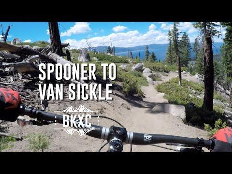 Mountain biking the Tahoe Rim Trail from Spooner Summit to Van Sickle