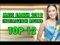Miss Earth 2019   Intelligence Round (Top 12)
