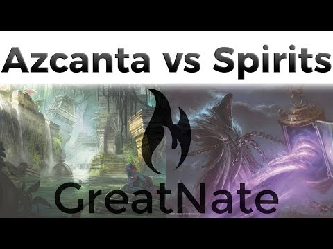 Jeskai Azcanta vs UW Spirits - R1 - Modern MTG