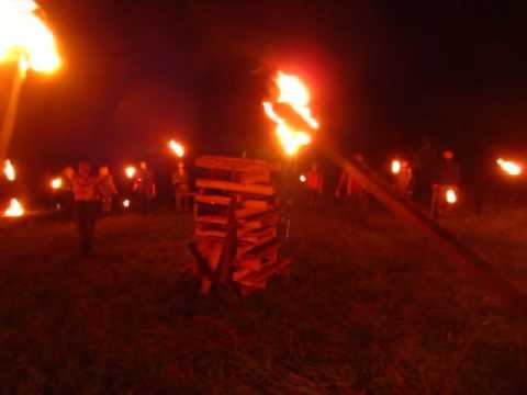 The viking pagan Asatru ritual in Russia.