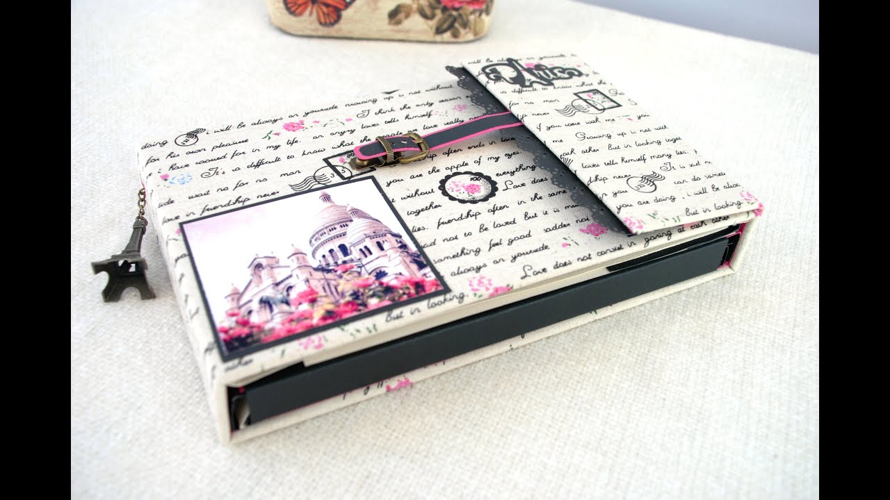 Detalle album scrapbooking paris youtube - Album para guardar fotos ...