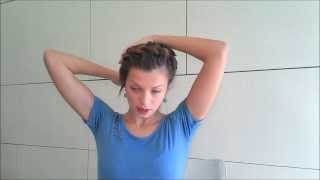 How to: Коса вокруг головы своими руками, Hair tutorial  Braid around the head