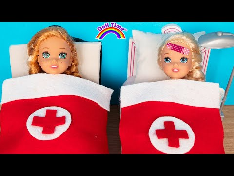 Hospital Elsa Anna Toddlers have Horse Riding accident!