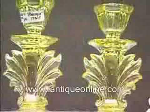 antique depression glassware