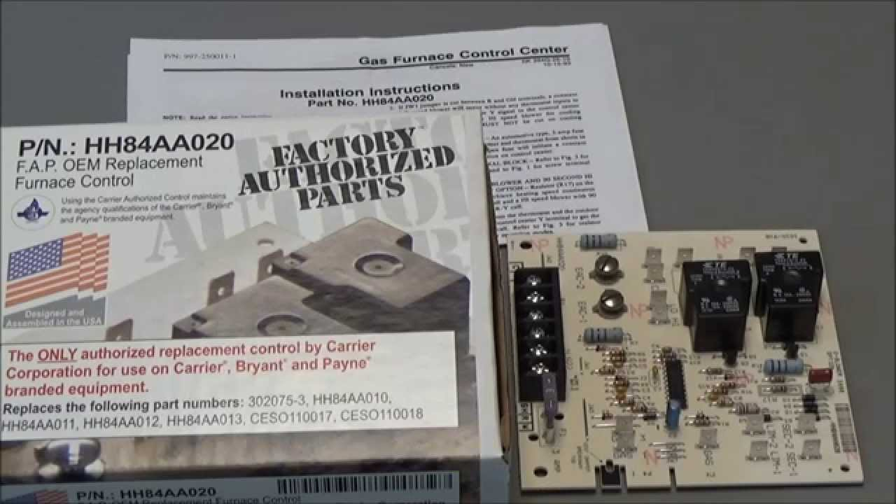 Carrier circuit board HH84AA020 - YouTube