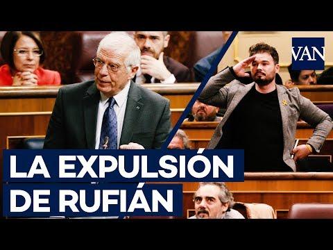 La EXPULSIÓN COMPLETA de Rufián del Congreso