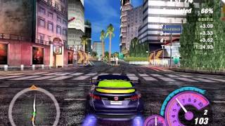 Need for Speed Underground 2. The Other Side - Sprint Gameplay
