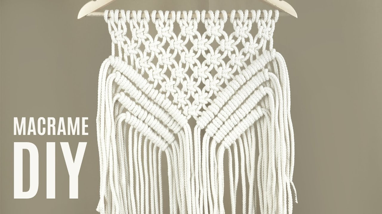How To Make Easy Macramé Wall Hanging Wall Decor