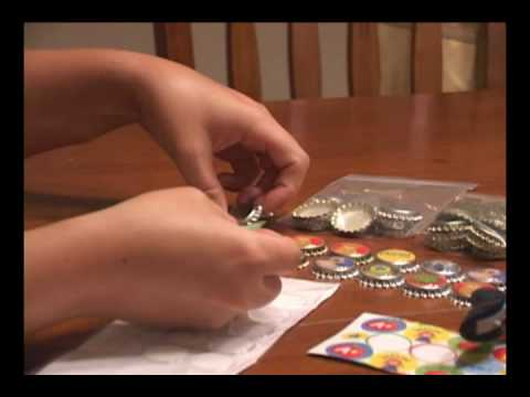 Add Graphics to your Bottlecaps Using Epoxy Stickers